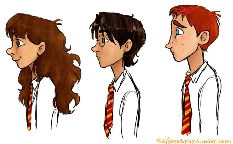 Hermione, Harry e Ron